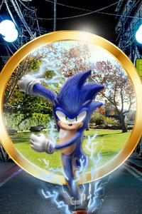 320x480 Sonic The HedgehogArt Running