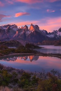 1080x2160 South America Patagonia Andes Mountains Lake