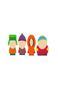 South Park Main Characters Minimalism