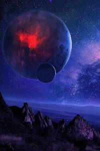 800x1280 Space Art Planet 4k