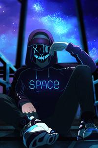 1242x2688 Space Boy 4k