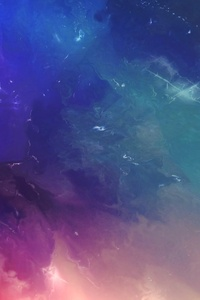 1125x2436 Space Colorful Abstract 4k