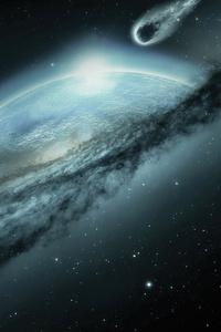 1080x2280 Space Fantasy Earth Meteorite Cosmos Mystical 4k