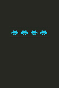 Space Invaders Minimalism