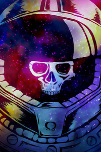 1440x2560 Space Marine Skull