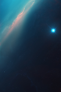 320x568 Space Nebula Art 4k