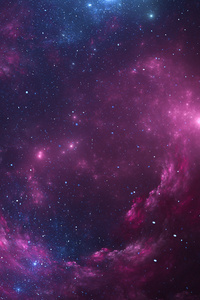 Space Pink Stars 4k