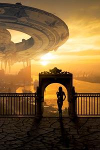 Space Ship Fantasy Scifi World 5k