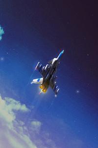 1440x2960 Space Shuttle Digital Art 4k