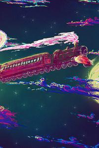 480x854 Space Train 4k