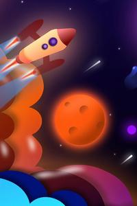 320x480 Space Trip 4k