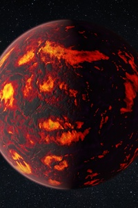 Space Universe Planet Exoplanet Burning Stars