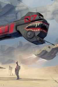 Spaceship Science Fiction Futuristic 5k