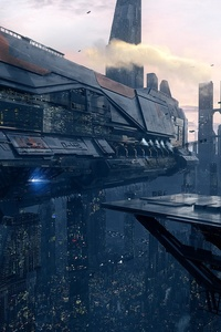 Spaceship Scifi City