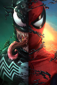1280x2120 Spider And Venom 2020