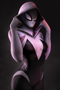 Spider Gwen Artwork 4k 2020