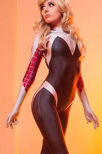 1080x2160 Spider Gwen Cosplay Girl 4k