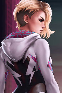 480x854 Spider Gwen Marvel Art 4k