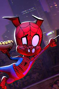 1125x2436 Spider Ham Illustration 4k