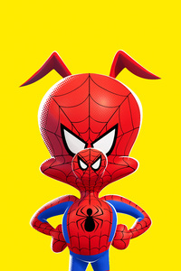 Spider Ham In SpiderMan Into The Spider Verse Movie Poster 5k