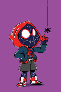Spider Kid Miles Morales Art