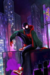 1242x2688 Spider Man 4k Miles