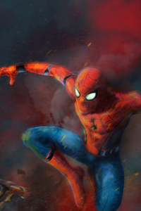 240x320 Spider Man Art 4k