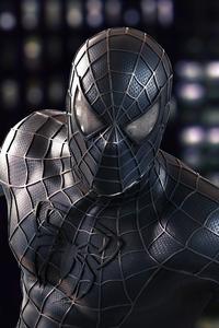 2160x3840 Spider Man Black Symbiote Suit Closeup 4k
