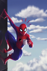 640x960 Spider Man Coffee