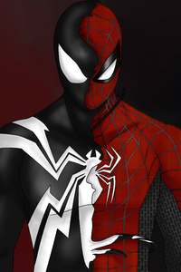 1440x2560 Spider Man Custom Symbiote Red Suit Split 4k