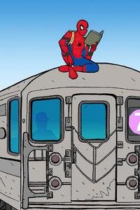 1280x2120 Spider Man Day In Queens 4k