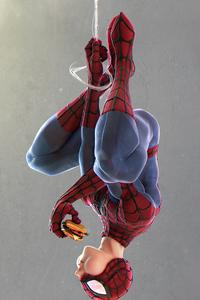 Spider Man Eating Burger