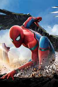 1125x2436 Spider Man Homecoming 2020