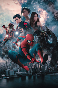 240x400 Spider Man Homecoming Fan Poster 5k