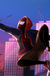 Spider Man Into The Spider Verse Art