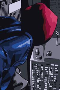 1280x2120 Spider Man Into The Spider Verse Black Spidey 5k