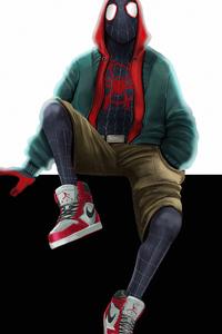 320x568 Spider Man Miles 4k Artwork