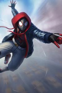 1080x1920 Spider Man Miles Art