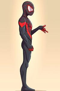320x480 Spider Man Miles Minimalism 4k