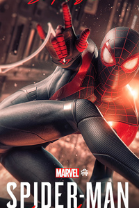 240x400 Spider Man Miles Morales Digital Art 4k
