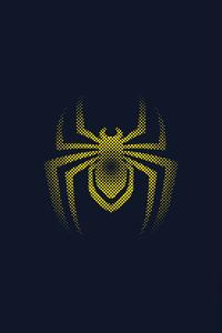 1440x2560 Spider Man Miles Morales Logo Minimal 4k
