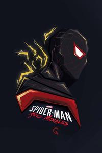 1080x1920 Spider Man Miles Morales Minimal Art 4k