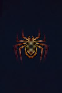1440x2560 Spider Man Miles Morales Minimal Logo 4k