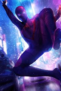 Spider Man Miles Neon