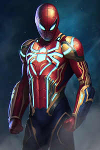 720x1280 Spider Man New Armor 4k