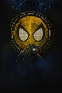 Spider Man No Way Home Gold Black Suit 5k