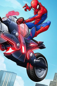 Spider Man On Bike