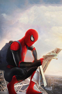 Spider Man Reading New Paper