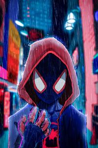 1242x2688 Spider Man Red Hoodie