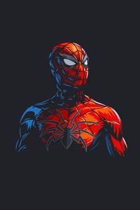 Spider Man Red Minimalism